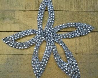 Silver Beaded Stars