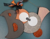 BOO! wall hanger, Halloween Decoration--READY to SHIP