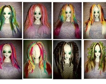 Custom Dread Falls Dreadlocks Cyber Falls Kanekalon 'Faerie Falls' Made to Order