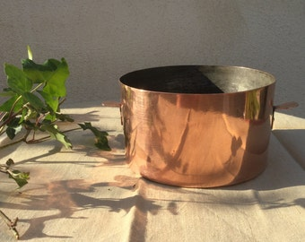 Old copper mold Soufflé or Cake Antique mould 19th Handmade Mold cookware kitchenware french copperware