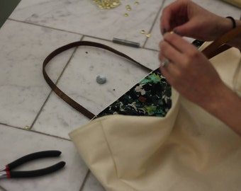Linen and Leather KIT for class- For Sewcial Sacramento Only