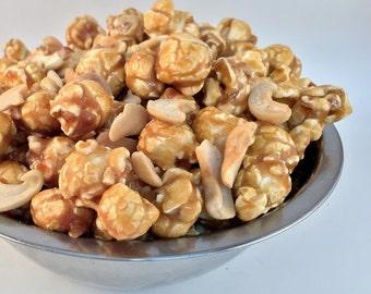 CARAMEL CASHEW Freedom Snacks Handcrafted 'Mix-In' Gourmet Popcorn
