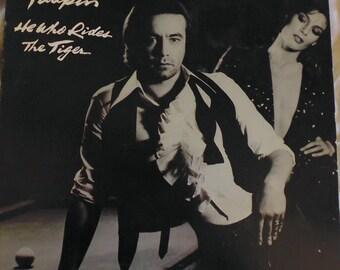 Bernie Taupin He Who Rides the Tiger, vinyl record, first pressing, Elton John, 1980s record, Asylum Records 6E-263, songwriter