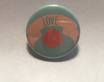 Rose Love Pinback Button