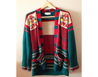 1970s Aztec Chunky Sweater
