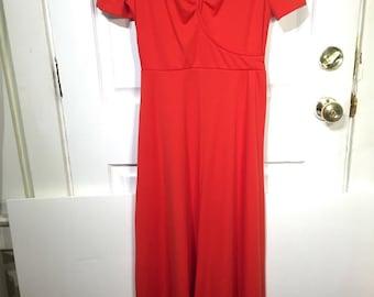 Vintage Orange full length dress