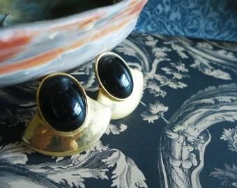 Vintage Ben-Anum Onyx Earrings