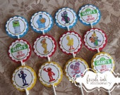 Sesame Street Personalized Birthday Cupcake Tops