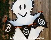 Screen Halloween Ghost Boo Door Hanger Decor Wreath//Ghost Door Hanger//Halloween Door Hanger