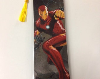 Upcycled Ironman Comic Book Bookmark