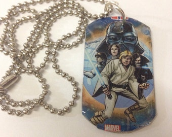 Upcycled Star Wars Comic Book Dog Tag Necklace