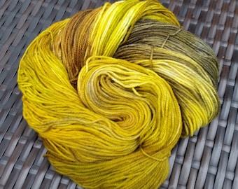 Moxibustion: 100g hand-dyed superwash merino/cashmere/nylon sock yarn
