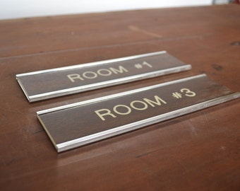 vintage office signage - faux bois - wall signage