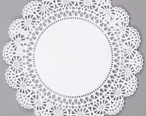 """10"""" Paper Lace Doily, 50 White Pape Doilies, 10"""" Paper Doily, Wedding Doilies,Party Decor Doilies, Wedding Decor, Bridal Shower, Baby Shower"""