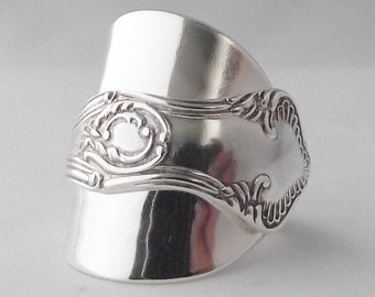 Beautifully Unusual Handmade Antique Art Nouveau Sterling Silver Spoon Ring dated 1915 Unique Gift
