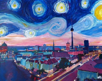 Starry Night in Berlin - Van Gogh Inspirations in Germany with Skyline