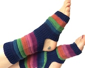 Yoga Socks, Handknit Striped Yoga Sock, Pilates, PiYo, Dance Socks, Pedicure Socks, Yoga Socks, Boho Socks, Hipster Socks, MADE TO ORDER