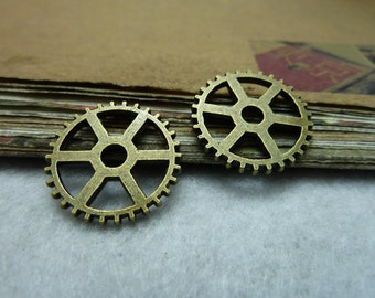 30pcs 20mm antique bronze gear charms pendant C7773