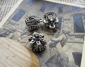 10pcs 16*12mm antique silver crown charms pendant B63