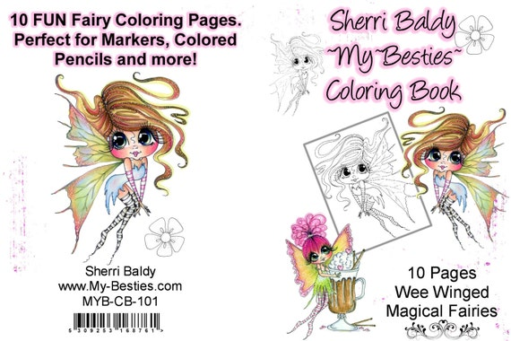 instant download coloring book wee winged magical fairies 10. Black Bedroom Furniture Sets. Home Design Ideas