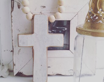 wooden cross garland / necklace interior