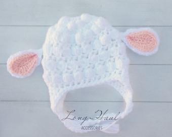 Baby Lamb Hat, Lamb Hat, Baby Hat, Baby Accessories, Photography Prop, Crochet Baby Hat, Newborn Hat, Newborn Photography Prop, Crochet Lamb