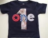 Baseball First Birthday One shirt 12M First Birthday shirt Blue navy gray 1 photo prop ready to ship