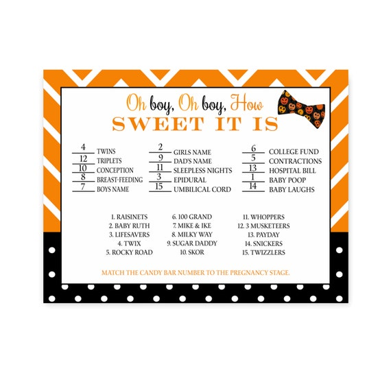 Halloween Baby Shower Game How Sweet It Is Bow By