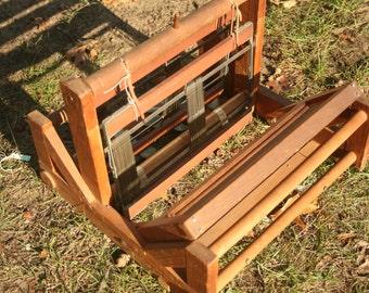 Primitive Wooden Loom, Vintage Wood Loom, Table Top Loom, Weaving, Weaver, Weave, Home Decor