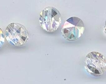 Twelve dazzling and very rare vintage Swarovski crystal beads - Art. 359 - 9.5 x 8 mm - crystal aurora borealis