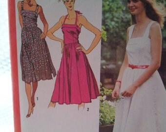 Simplicity 9333 Halter Sundress circa 1979 Size 14
