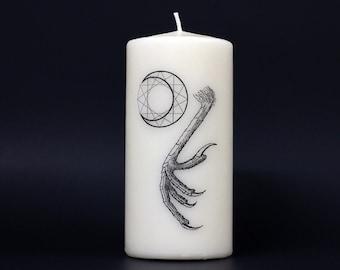 Bird of Pray - Pillar Candle - Geometry
