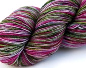 "Kettle Dyed Sock Yarn, Superwash Merino and Nylon 75/25 Fingering Weight, in ""Hellebore"""