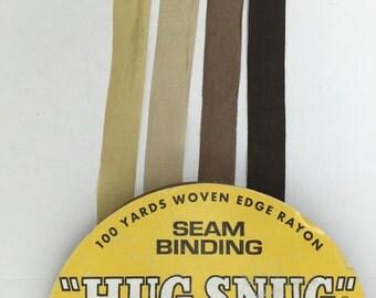 8 yards hug snug seam binding ribbon in shades of browns  and creams . I call this coffee and cream