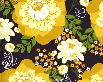 Strawberry Moon - Flutter by Rose in Honey - Sandi Henderson for Michael Miller - DC7305-HONE-D - 1/2 Yard