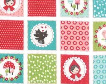 Lil Red - Patchwork in Multi - Stacy Iset Hsu for Moda - 20501 11 - 1/2 yd