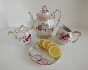 Noritake Lemon Dish, Azalea Pattern, # 19322, 252622, Hand Painted Lemon Server, Vintage Tea Party, Circa 1918