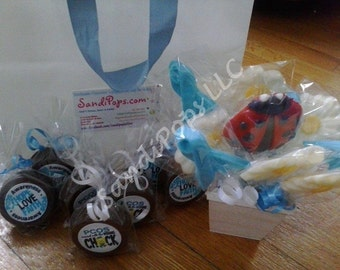 FREE AUCTION ITEM w purchase of 50 Awareness Fundraising Logo Lollipop Party Favors
