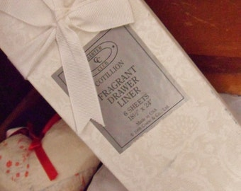 Charter Club Drawer Liners, Never Opened Box of Scented Drawer Paper, Cotillion Pattern Paper
