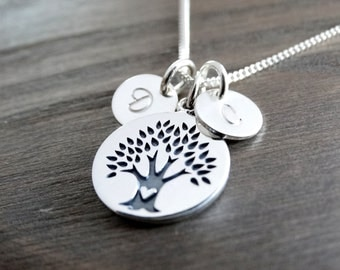 Tree of life necklace sterling silver Family Tree Necklace Personalized Jewelry Gift Family Tree Jewelry Mothers Necklace