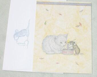 Happy Birthday... Rat & Cat Greeting Card