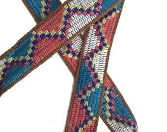 Tribal Ethnic Knitted Aztec Ribbon Woven Trim 2 YARDS