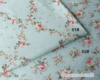 Romantic Rose Wall With Aque Blue Cotton Fabric Pink Cream Background Shabby Chic