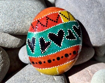jack of hearts / painted rocks / painted stones  / paperweights / rock art / hearts on rocks / hand painted rocks / small paintings / rocks