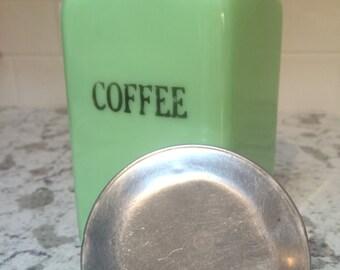 Jadeite Coffee Canister - McKee