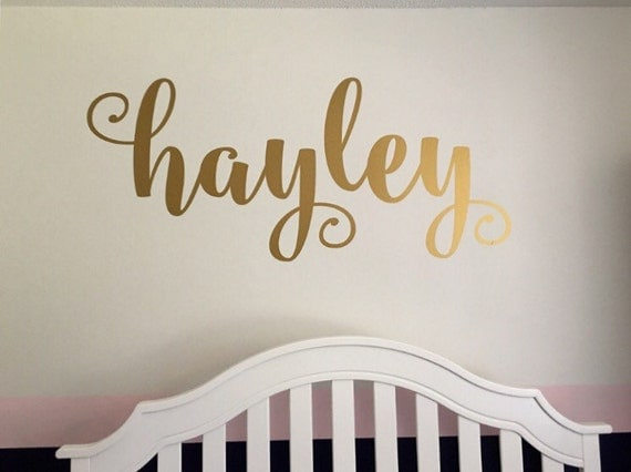 Etsy Personalized Wall Decor : Name wall decal personalized decor by customvinylbybridge