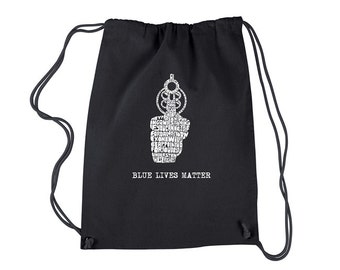 Cinch Backpack Bag-Blue Lives Matter