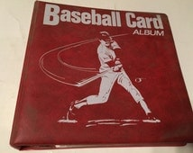 350 plus baseball trading cards in original binder various players and card manufactures