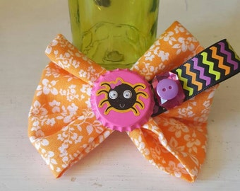 Cutesy Halloween Spider Hair Bow