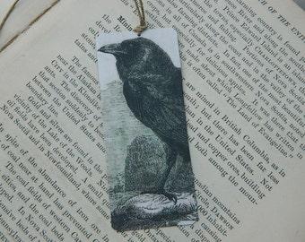 The Raven Bookmark art bookmark metal bookmark